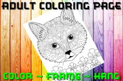 Cat Adult Coloring Page Sheet #15 (digital or shipped)