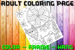 Cow Adult Coloring Page Sheet #1 (digital or shipped)