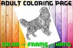 Dog Labrador Adult Coloring Page Sheet #5 (digital or shipped)