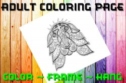 Dog Spaniel Adult Coloring Page Sheet #7 (digital or shipped)