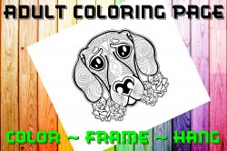 Dog Adult Coloring Page Sheet #8 (digital or shipped)