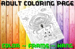 Crab Adult Coloring Page Sheet #2 (digital or shipped)