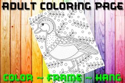 Duck Adult Coloring Page Sheet #1 (digital or shipped)