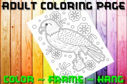 Eagle Adult Coloring Page Sheet #3 (digital or shipped)