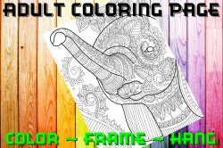 Elephant Adult Coloring Page Sheet #19 (digital or shipped)