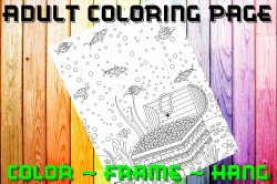 Fish Adult Coloring Page Sheet #19 (digital or shipped)