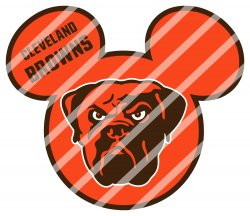 Cleveland Browns Mickey Head Digital Clip Art Image #1 (instant download)