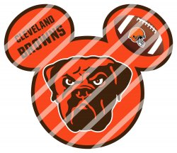 Cleveland Browns Mickey Head Digital Clip Art Image #2 (instant download)