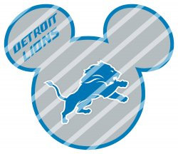 Detroit Lions Mickey Head Digital Clip Art Image #1 (instant download)