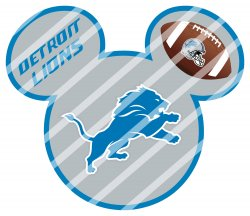 Detroit Lions Mickey Head Digital Clip Art Image #2 (instant download)