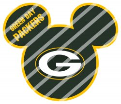 Green Bay Packers Mickey Head Digital Clip Art Image #1 (instant download)