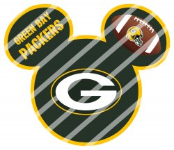 Green Bay Packers Mickey Head Digital Clip Art Image #2 (instant download)