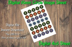 Military Service Digital 16mm Circle Images Sheet #1 (instant download)