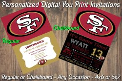 San Francisco 49ers Digital Party Invitation #2 (Regular or Chalkboard)