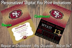 San Francisco 49ers Digital Party Invitation #4 (Regular or Chalkboard)