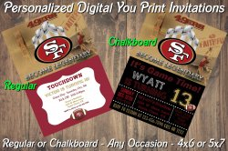 San Francisco 49ers Digital Party Invitation #7 (Regular or Chalkboard)