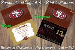 San Francisco 49ers Digital Party Invitation #8 (Regular or Chalkboard)