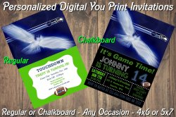 Seattle Seahawks Personalized Digital Party Invitation #2 Regular or Chalkboard