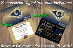 St Louis Rams Personalized Digital Party Invitation #4 (Regular or Chalkboard)