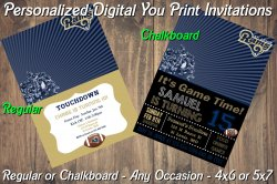 St Louis Rams Personalized Digital Party Invitation #8 (Regular or Chalkboard)
