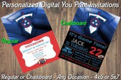 Tennessee Titans Personalized Digital Party Invitation #6 Regular or Chalkboard