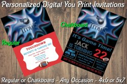 Tennessee Titans Personalized Digital Party Invitation #7 Regular or Chalkboard