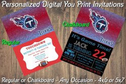 Tennessee Titans Personalized Digital Party Invitation #8 Regular or Chalkboard