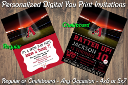 Arizona Diamondbacks Digital Party Invitation #1 (Regular or Chalkboard)