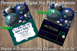 Arizona Diamondbacks Digital Party Invitation #02A (Regular or Chalkboard)