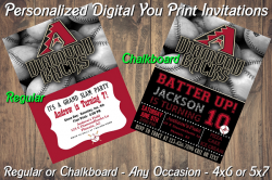 Arizona Diamondbacks Digital Party Invitation #5 (Regular or Chalkboard)