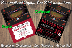 Arizona Diamondbacks Digital Party Invitation #7 (Regular or Chalkboard)