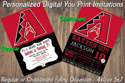 Arizona Diamondbacks Digital Party Invitation #8 (Regular or Chalkboard)