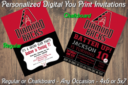 Arizona Diamondbacks Digital Party Invitation #9 (Regular or Chalkboard)