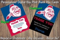 Atlanta Braves Personalized Digital Thank You Card #10 (Regular or Chalkboard)