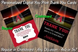 Arizona Diamondbacks Digital Thank You Card #1 (Regular or Chalkboard)