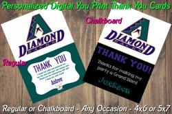 Arizona Diamondbacks Digital Thank You Card #01A (Regular or Chalkboard)