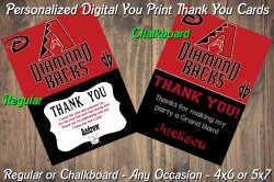 Arizona Diamondbacks Digital Thank You Card #4 (Regular or Chalkboard)