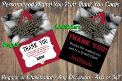 Arizona Diamondbacks Digital Thank You Card #5 (Regular or Chalkboard)