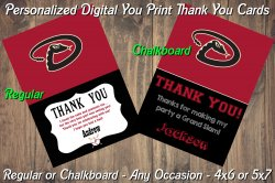 Arizona Diamondbacks Digital Thank You Card #6 (Regular or Chalkboard)