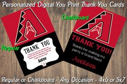 Arizona Diamondbacks Digital Thank You Card #8 (Regular or Chalkboard)