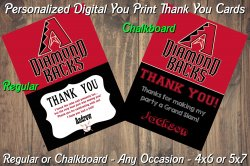 Arizona Diamondbacks Digital Thank You Card #9 (Regular or Chalkboard)