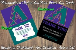 Arizona Diamondbacks Digital Thank You Card #03A (Regular or Chalkboard)