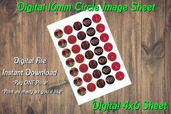 Arizona Diamondbacks Digital 16mm Circle Images Sheet #1 (instant download)