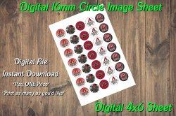 Arizona Diamondbacks Digital 16mm Circle Images Sheet #2 (instant download)