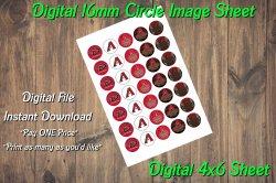 Arizona Diamondbacks Digital 16mm Circle Images Sheet #3 (instant download)