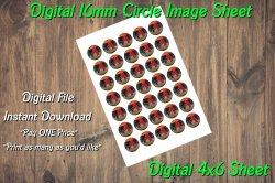 Arizona Diamondbacks Digital 16mm Circle Images Sheet #A1 (instant download)