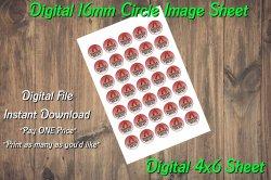 Arizona Diamondbacks Digital 16mm Circle Images Sheet #B1 (instant download)