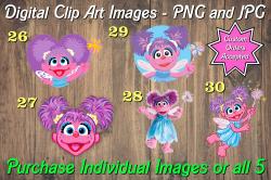 Abby Cadabby Digital Clip Art Images #26-30