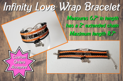 Biker Chick Infinity Love Wrap Bracelet