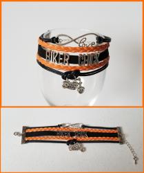 '.Biker Chick Infinity Bracelet.'